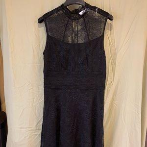 Black fine lace Sandro dress